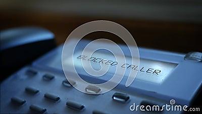 Преграженное сообщение звонящего по телефону на современной системе назеиной линии дела акции видеоматериалы