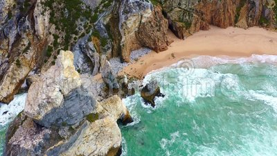 Прекрасный пляж Урса сверху - как рай видеоматериал