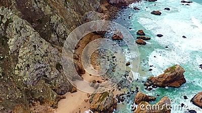 Прекрасный пляж Урса сверху - как рай акции видеоматериалы