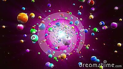 Предпосылка Loopable шариков Bingo