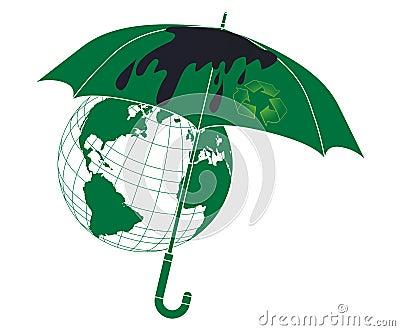 Принципиальная схема защиты среды