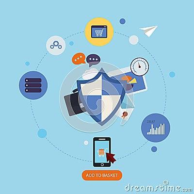 схема защиты данных