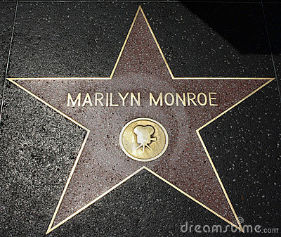 прогулка hollywood marilyn monroe славы Редакционное Стоковое Изображение