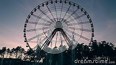 Промежуток времени привлекательности колеса Ferris видеоматериал