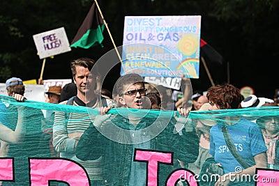 Протесты Balcombe Fracking Редакционное Фото