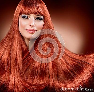 Прямые прочитанные волосы
