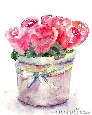 Пук красных роз