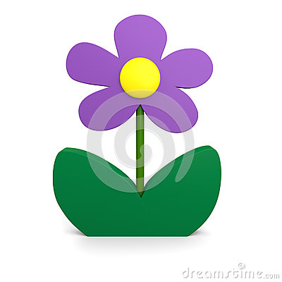 Пурпуровый цветок
