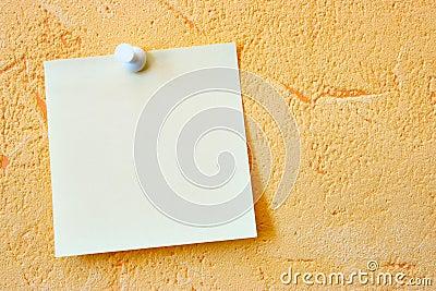 пустая бумага примечания