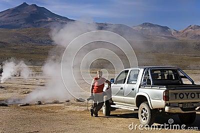 Пустыня Atacama - Чили Редакционное Изображение
