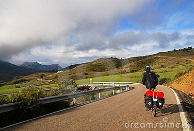 путешествовать Испании велосипеда