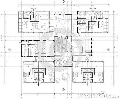 Рисовать: 1-ый план здания