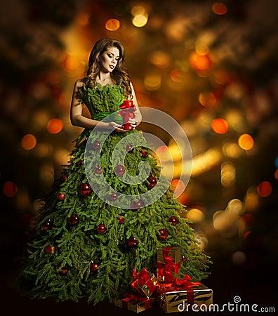 Платье елки для девушки