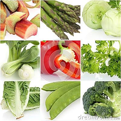 新鲜蔬菜拼贴画