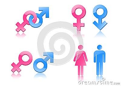 性别符号 库存照片 - 图片