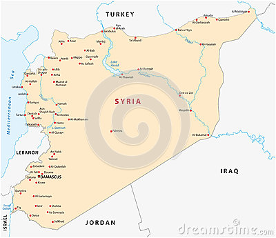 城市地图阿拉伯共和国叙利亚