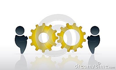 Работать совместно
