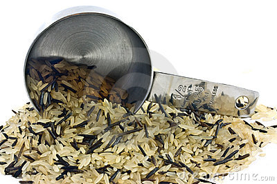 разливать риса чашки
