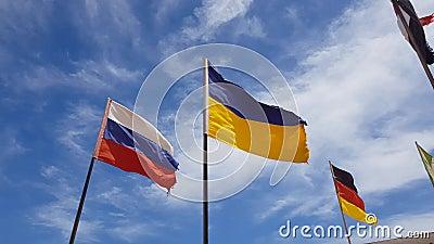 Различное летание флагов видеоматериал