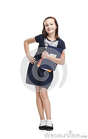 Радостная школьница