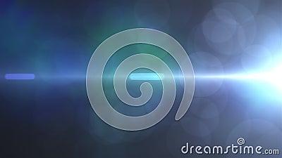 Реалистичный эффект оптической линзы, генерируемый компьютером 3d рендеринг вспышек, световых импульсов и свечения видеоматериал