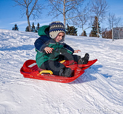 ребенок sledding
