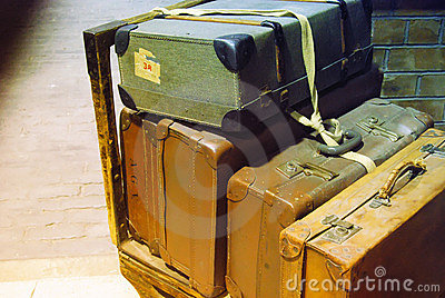 ретро чемоданы