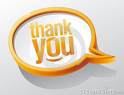 речь пузыря благодарит вас