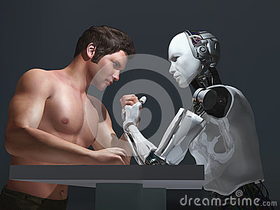робот человека конкуренции