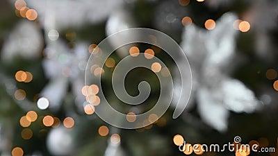 Рождественская ёлка размыла свет на заднем плане акции видеоматериалы
