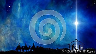 Рождество звезды Иисуса Вифлеема иллюстрация штока