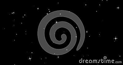 Рождества моргать искра яркого блеска играет главные роли падать от верхней части, xmas зимнего отдыха с петлей звезды безшовной  акции видеоматериалы