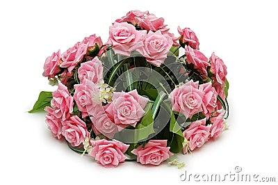 розы изолированные букетом
