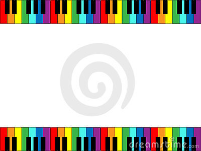 рояль клавиатуры граници