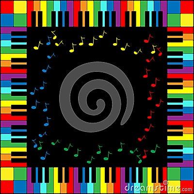рояль клавиатуры рамки