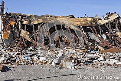 руина пожара