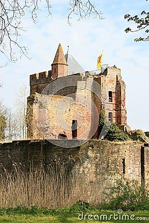 руины rampart Голландии замока brederode