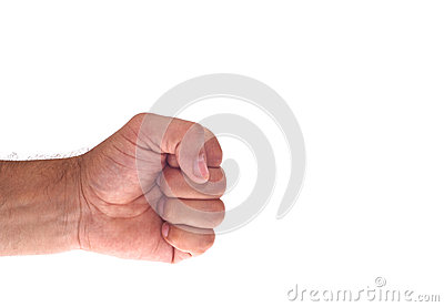 Рука с обхватила кулак