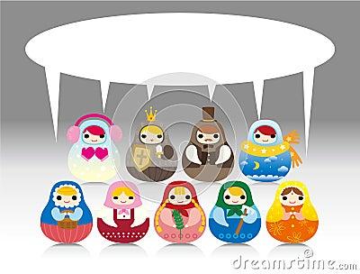 русский куклы карточки