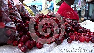 Рынок в Джорджтауне в Гайане акции видеоматериалы