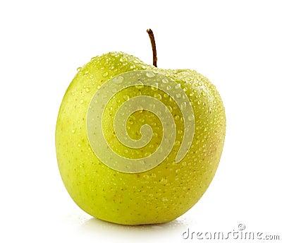 Свежее влажное яблоко