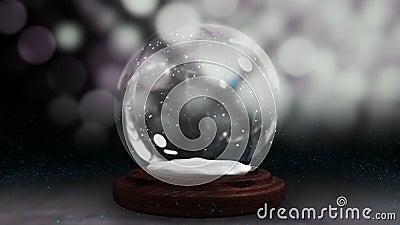Сверкная свет спирально двигая вокруг глобус снега сток-видео