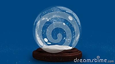 Сверкная свет спирально двигая вокруг глобус снега видеоматериал