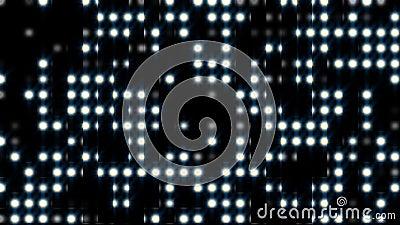 Светло-эффект ярко-круглые точки, сгенерированный компьютером 3d рендеринг фона с проблесковым светом Спанглиттер акции видеоматериалы