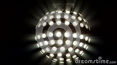 Светлый шарик диско сток-видео