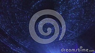 Световые лучи, влияния освещения на потолке огромного концертного зала во время выставки видеоматериал