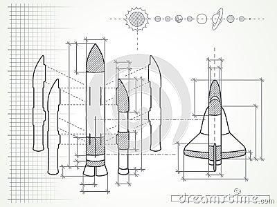 Светокопия - схема и планеты