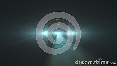 Светящаяся или звездная вспышка на черном фоне Эффект 'вспышки' современной природы с черным фоном для наложения видеоматериал