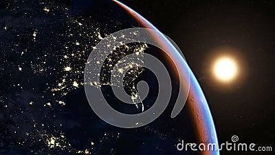 Северная Америка на ноче иллюстрация штока