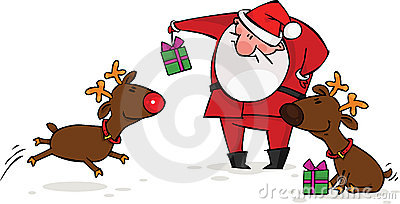 северный олень santa